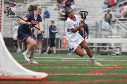 Centennial (18) Marissa Lagera, shown here earlier this year, helped the Eagles to a 14-3 win over Atholton on Tuesday, April 25.