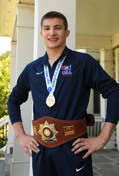 Woodbine resident Meyer Shapiro, 17, won a gold medal in wrestling at the Cadet World Wrestling Championships held July 19-20 in Budapest, Hungary.