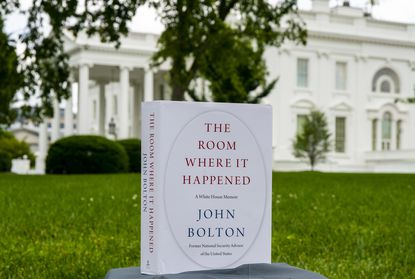 """The Room Where it Happened,"" a book by John Bolton, at the White House in Washington, Thursday, June, 18, 2020. The book describes the former national security advisor's 17 turbulent months at President Donald Trump's side through a multitude of crises and foreign policy challenges."