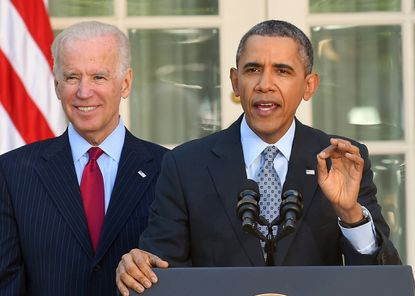 In 2014, President Barack Obama and then-Vice President Joe Biden cheered seven million people who signed up for insurance under the Affordable Care Act and lashed out at political opponents who Obama said were bent on denying care to Americans.