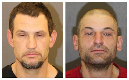 Baltimore police arrested William Ritchie (left) and Shawn Krainer (right) in connection with at least two arson cases.