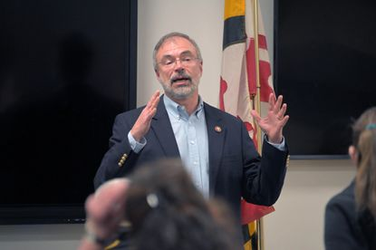 United States Rep. Andy Harris (R-1, Md.) during a sometimes contentious town hall meeting at Kingsville Volunteer Fire Company Fri., December 20, 2019.