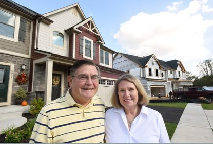 Tom and Caren Cranston, both 69, moved into their Summit Circle duplex in June. They were previously living in nearby Stoneleigh in a larger house but were attracted to this active adult community because of the first-floor bedroom and not having to worry about yard maintenance or shoveling snow.