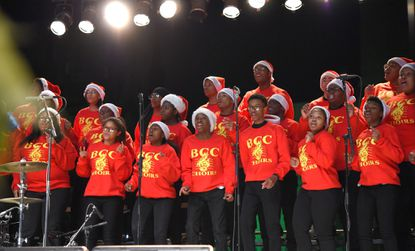 <p>The Baltimore City College Choir performs at the 2017 monument lighting.&nbsp;</p>