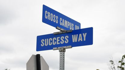 There's at least one positive intersection on the Harford Community College campus.