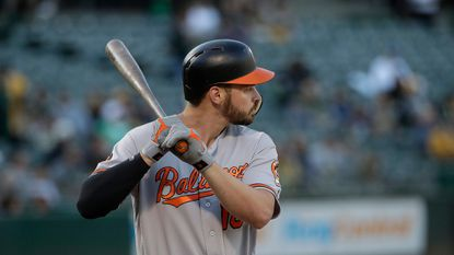 Baltimore Orioles' Trey Mancini against the Oakland Athletics during a baseball game in Oakland, Calif., Tuesday, June 18, 2019. (AP Photo/Jeff Chiu)