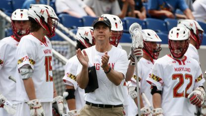Returning as the reigning NCAA Division I men's lacrosse champion was almost as difficult as trying to overcome 42 years of not winning the title for Maryland and coach John Tillman, center.