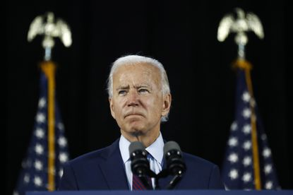 In this June 25 file photo, Democratic presidential candidate and former Vice President Joe Biden pauses while speaking during an event in Lancaster, Pennsylvania.
