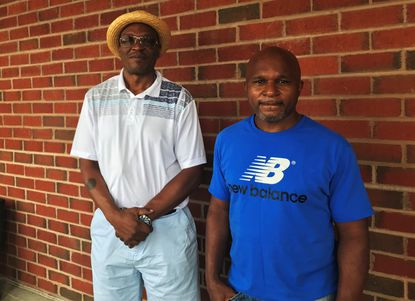 Mardell Brawner, left. says he testified falsely against Mark Grant in a murder trial in the 1980s that sent Grant to prison for 28 years.