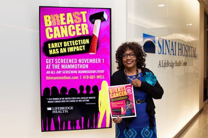 June Harlee, a breast cancer survivor who discovered she had cancer at the 2017 Mammothon, was the face of the LifeBridge Health Mammothon campaign last year.