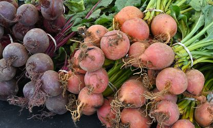 """Fresh vegetables such as Beets and Golden Beets are sold at """"Deep Run Farms"""" of Hampstead booth. Catonsville Farmers Market, 9 a.m.-12 p.m. every Wednesday, at Christian Temple parking lot, 5820 Edmondson Ave. in Catonsville. Free. catonsvillefarmersmarket.com."""