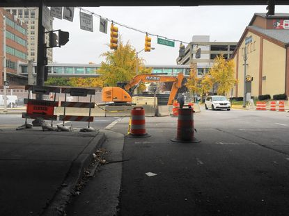 Construction at Centre St. And Guilford