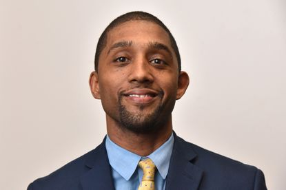"""Brandon Scott has won the crowded Democratic primary for Baltimore mayor, making good on his campaign to """"change the guard"""" at City Hall and usher in a new generation of leadership. Scott is shown in a Feb. 13, 2020, photo."""