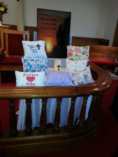 Stuffing for the soul: Church members create comfort pillows to donate