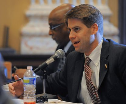 William H. Cole IV at a 2013 Baltimore City Council hearing. Cole was recently appointed the new head of the Baltimore Development Corp.