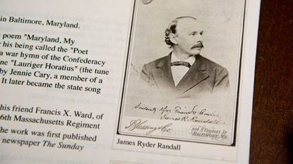 """A photo of James Ryder Randall, the author of """"Maryland My Maryland,"""" the state song."""