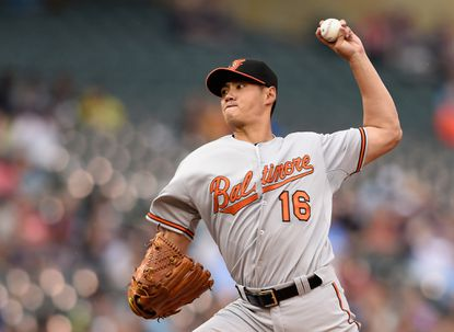 Orioles starter Wei-Yin Chen delivers a pitch against the Minnesota Twins during the second inning on July 6, 2015 at Target Field in Minneapolis.