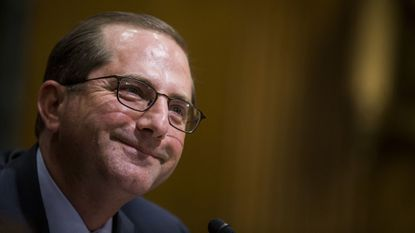 Alex Azar, nominated to be the next secretary of health and human services, testified during a Jan. 9 hearing before the Senate Finance Committee. MUST CREDIT: Bloomberg photo by Zach Gibson ** Usable by BS, CT, DP, FL, HC, MC, OS, SD, CGT and CCT **