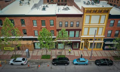 The 400 block of Howard Street has been a vacant, blighted zone for decades. A development underway to change all that is the first ray of hope in the Howard Street corridor for years.