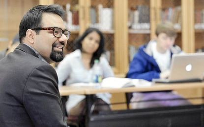 Shiraz Maher, a former Islamist, is a visiting lecturer in political science at Washington College this semester. Maher, a senior research fellow at the International Centre for the Study of Radicalisation at King's College, London, teaches a class on Middle Eastern politics.