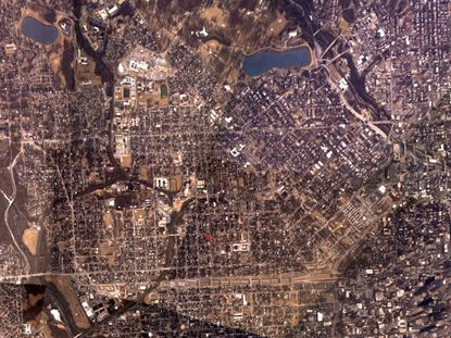 Persistent Surveillance Systems' wide area camera imagery captures about 30-square miles of Baltimore at once.