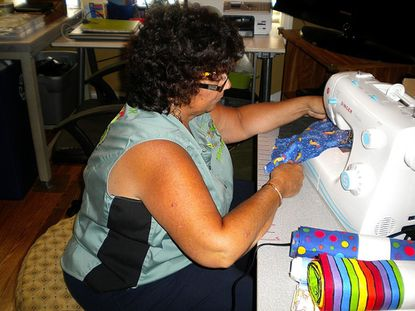 Sewing and serving