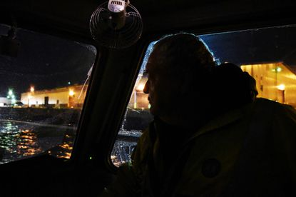 A bay pilot spends his nights guiding massive ships through the bay's tricky waters