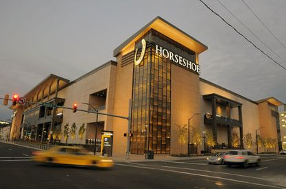The new Horseshoe Casino, as seen from Russell Street near downtown Baltimore.