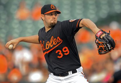 Jason Hammel went 8-6 with a 3.43 ERA in his first season with the Orioles last year.