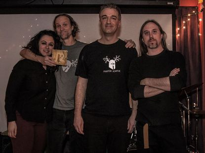 "Despite the coronavirus pandemic, psychedelic rock band Phantom Scimitar was still able to release its second album, ""Electric Nemeton,"" on Feb. 2. Members of the Laurel-based band, from left, are Zinoosh Farbod, Francios Smith, Derek Falzoi and Ryan Matchett."