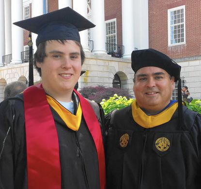Kyle Engle and his father, Mark Engle, both graduated in May from the University of Maryland.