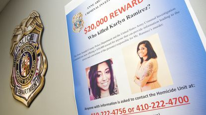 Anne Arundel County Police increased the reward to $20,000 for information in the murder of Karlyn Ramirez. Ramirez's husband, Maliek Kearney is scheduled to appear in federal court in Baltimore Monday to face charges of committing domestic violence resulting in death.