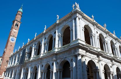 Along Vicenza's main square is the Palladian Basilica that architect Andrea Palladio redesigned in the mid-16th century.
