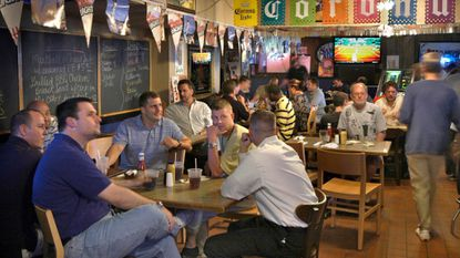The lunch crowd at PJ's Pub in Charles Village back in May 2004. The Charles Village bar will close for the final time on Wednesday night.