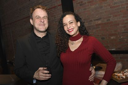 Documentary filmmakers Stephen Janis, left, and Taya Graham at the Sun's Baltimore's Best party in 2019. The two journalists who were honored that year for a podcast they were part of have a new documentary, The Friendliest City, which premieres nationally Jan. 19. The film, which was five years in the making, follows a former Baltimore City homicide detective who becomes police chief in Pocomoke City on Maryland's Eastern Shore. It tells a story of racism, resilience, policing and community organizing.