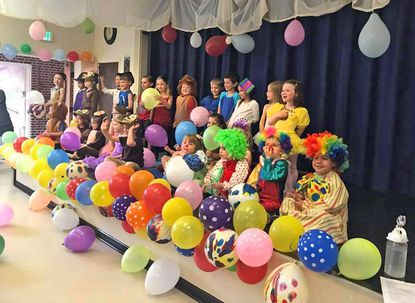 St. John's Nursery School students performing in their end-of-the-year circus program in May (file photo).