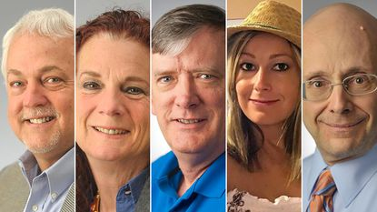 This photo combination shows the victims of the shooting in the newsroom of the Capital Gazette in Annapolis: from left, Rob Hiaasen, Wendi Winters, John McNamara, Rebecca Smith and Gerald Fischman.