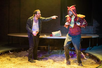 """Matthew Casella, left, and Paul Diem in """"Year of the Rooster"""" at Single Carrot Theatre"""