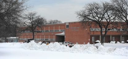A section of Parkville Middle School's roof collapsed.