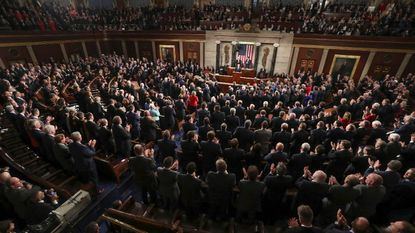 President Donald J. Trump delivers the 2018 State of the Union address to a joint session of Congress. File