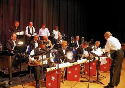 The Carroll County Jazz Ensemble performs during a previous Big Band Merry Christmas Concert. This year the concert will take place at 7:30 p.m., Dec. 7, in the Westminster High School auditorium.
