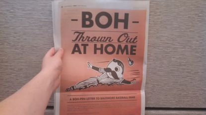 Natty Boh takes out craven full-page ad to get back in Oriole Park