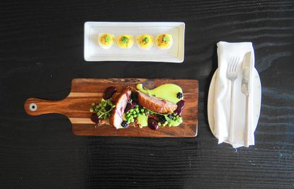 Encantada boasts a focus on vegetables with an eclectic new American menu