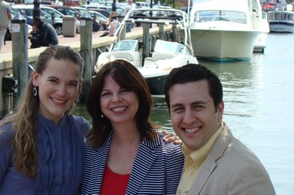 Janet Luby, center, the co-founder and artistic director for Bay Theatre Company, has partnered with Infinity Theatre co-producing artistic directors Anna Roberts Ostroff, left, and Alan Ostroff to bring three original children's shows to Bay Theatre in Annapolis this summer.