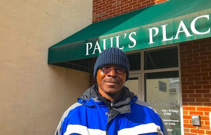 Herman Buchanan, 52, has been homeless for about a year. He visits Paul's Place in southwest Baltimore for meals and clothing.