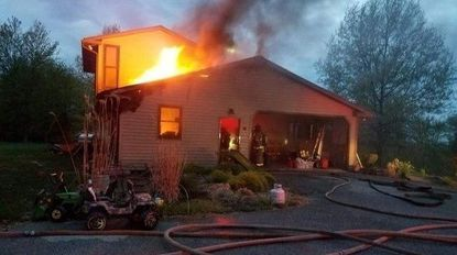 A fire in the unit block of John Owings Road in Westminster did some $70,000 in damage to the structure of the house.