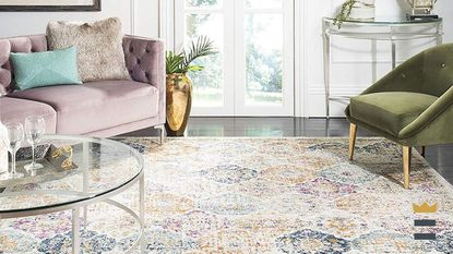 Adding an area rug can make a space look new, even if you don't change anything else.