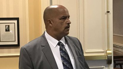 Del. Curt Anderson arrived in Annapolis for a meeting of the Joint Committee on Legislative Ethics.