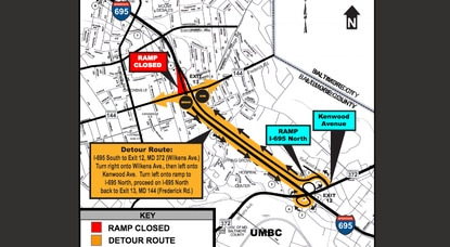 Southbound ramp to Frederick Road in Catonsville to close for 8 months