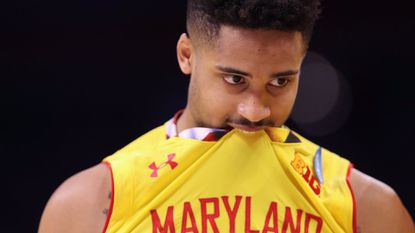 Melo Trimble after Maryland's loss to Xavier in the first round of the 2017 NCAA tournament.